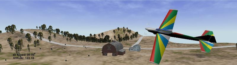DAM R/C Flight Simulator Scene